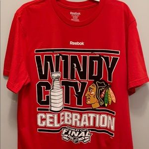 Chicago Blackhawks 2015 championship t -shirt.